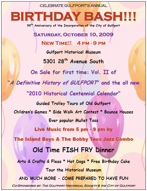 Gulfport's 99th Birthday Bash