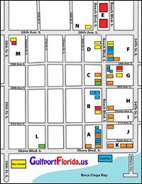 Gulfport Art District Map and Guide