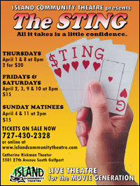 Island Community Theatre presents The Sting in Gulfport, Fl